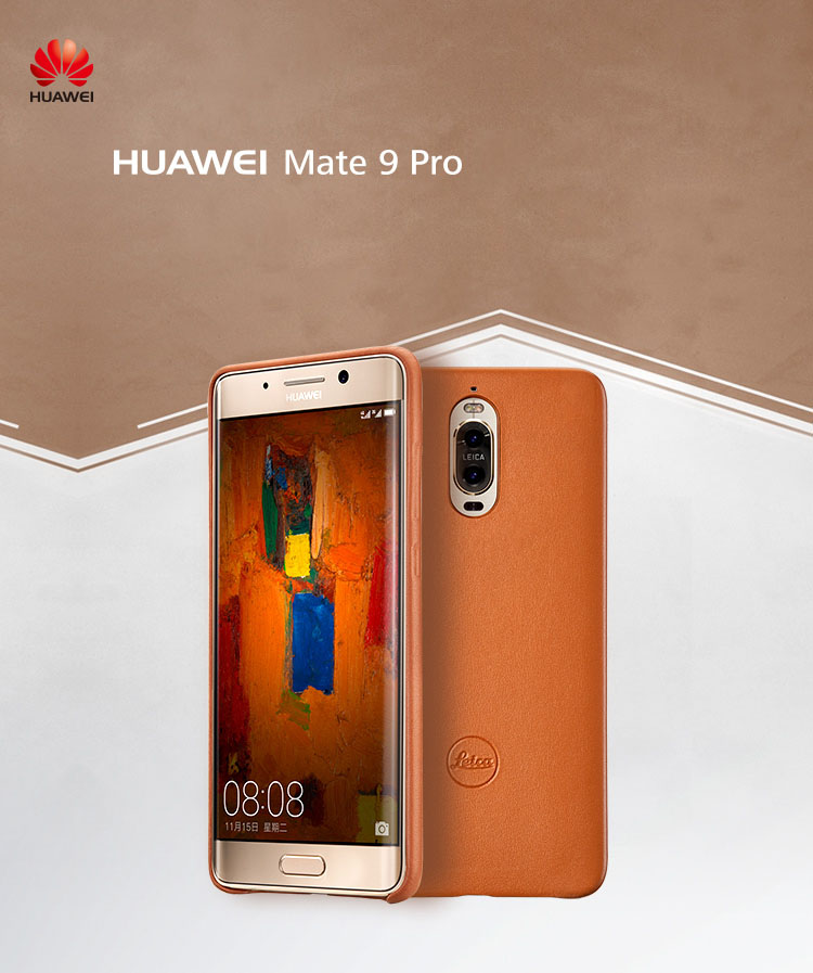 Original Huawei Mate 9 Pro Genuine Cowhide Back Cover Case