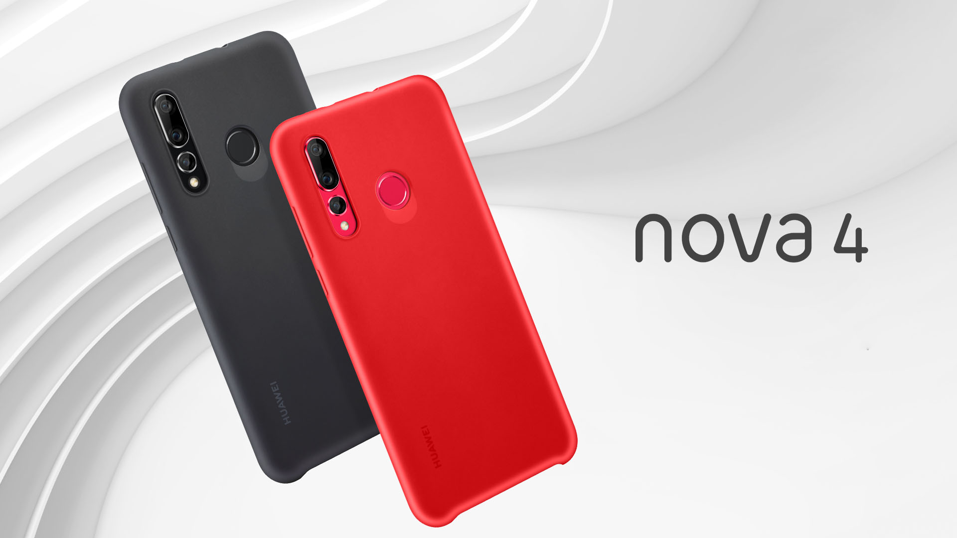 Original Huawei Nova 4 Skin Touch Feeling Liquid Silicone Soft Protective  Case